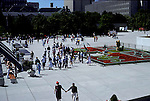 Nathan Phillips Square before city hall Toronto architecture buildings downtown Ontario Canada<br />