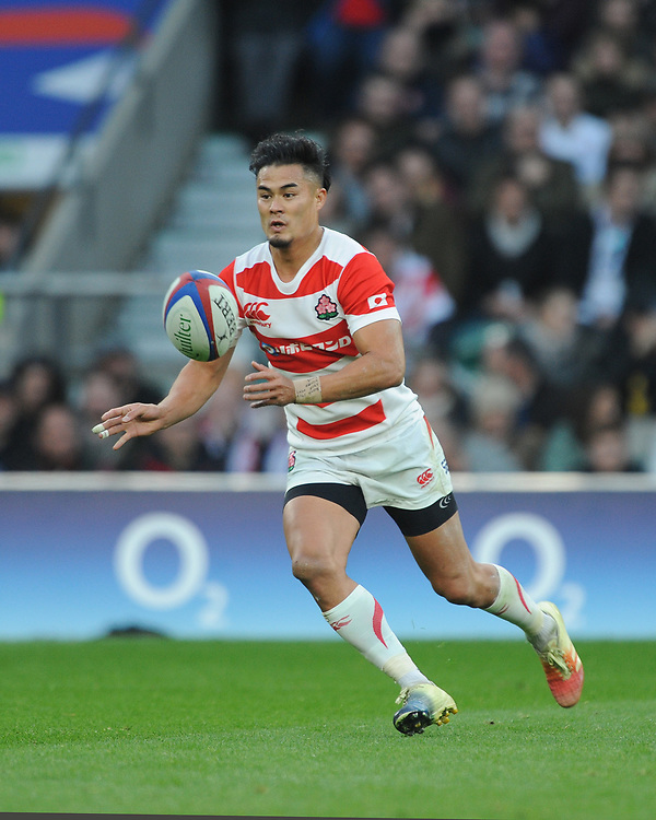 Yu Tamura of Japan in action  during the Quilter International match between England and Japan at Twickenham Stadium on Saturday 17th November 2018 (Photo by Rob Munro/Stewart Communications)