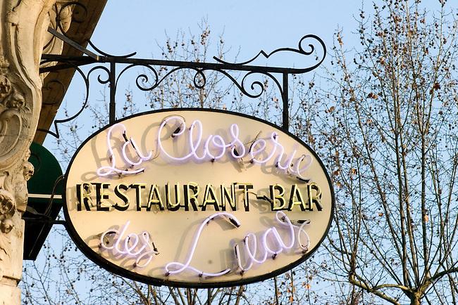 Exterior, Le Closerie Restaurant, Paris, France, Europe