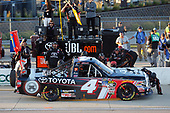 NASCAR Camping World Truck Series<br /> M&M's 200 presented by Casey's General Store<br /> Iowa Speedway, Newton, IA USA<br /> Friday 23 June 2017<br /> Christopher Bell, Toyota Toyota Tundra pit stop<br /> World Copyright: Russell LaBounty<br /> LAT Images