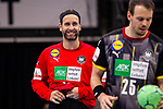 Silvio Heinevetter (Deutschland #12) ; EHF EURO-Qualifikation / EM-Qualifikation / Handball-Laenderspiel: Deutschland - Estland am 02.05.2021 in Stuttgart (PORSCHE Arena), Baden-Wuerttemberg, Deutschland.<br /> <br /> Foto © PIX-Sportfotos *** Foto ist honorarpflichtig! *** Auf Anfrage in hoeherer Qualitaet/Aufloesung. Belegexemplar erbeten. Veroeffentlichung ausschliesslich fuer journalistisch-publizistische Zwecke. For editorial use only.