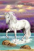 Interlitho, Luis, FANTASY, paintings, unicorn in water, KL, KL3325,#fantasy# illustrations, pinturas