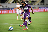 Youssef Maleh of ACF Fiorentinain action during the Italy cup football match between ACF Fiorentina and Cosenza calcio at Artemio Franchi stadium in Florence (Italy), August 13th, 2021. Photo Andrea Staccioli / Insidefoto