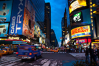Life scene on Times Square in New York City, USA