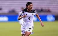 HOUSTON, TX - JANUARY 28: Hilary Jaen #4 of Panama sprints during a game between Costa Rica and Panama at BBVA Stadium on January 28, 2020 in Houston, Texas.
