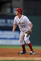 First baseman Jantzen Witte (35) of the Greenville Drive in a game against the Augusta GreenJackets on Thursday, May 22, 2014, at Fluor Field at the West End in Greenville, South Carolina. Greenville won, 7-2. (Tom Priddy/Four Seam Images)
