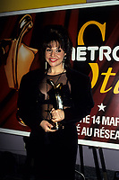 Montreal (Qc) CANADA, March 1993<br /> <br /> Sonia Benezra hold her Metro Star award at the 1993 Gala.