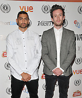 """Mic Righteous & Daf Evan attend the """"My Hero"""" Raindance Film Festival UK film premiere, Vue Piccadilly cinema, Lower Regent Street, London, England, UK, on Friday 25 September 2015. <br /> CAP/CAN<br /> ©Can Nguyen/Capital Pictures"""