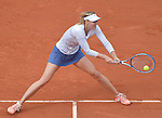 Maria Sharapova (RUS) defeats Samantha Stosur (AUS) 6-3, 6-4 at  Roland Garros being played at Stade Roland Garros in Paris, France on May 29, 2015