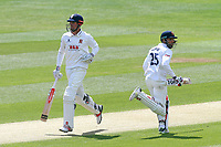 Alastair Cook (L) and Ravi Bopara add to the Essex total during Essex CCC vs Hampshire CCC, Specsavers County Championship Division 1 Cricket at The Cloudfm County Ground on 20th May 2017