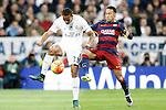 Real Madrid's Danilo Luiz da Silva (l) and FC Barcelona's Neymar Santos Jr during La Liga match. November 21,2015. (ALTERPHOTOS/Acero)