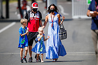 July 3rd 2021; F1 Grand Prix of Austria, qualifying sessions;  RAIKKONEN Kimi (fin), Alfa Romeo Racing ORLEN C41, with his wife Minttu, and his kids Robin and Rianna in the paddock during the  2021 Austrian Grand Prix, 9th round of the 2021 FIA Formula One World Championship