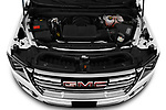 Car Stock 2021 GMC Yukon-XL SLT 5 Door SUV Engine  high angle detail view