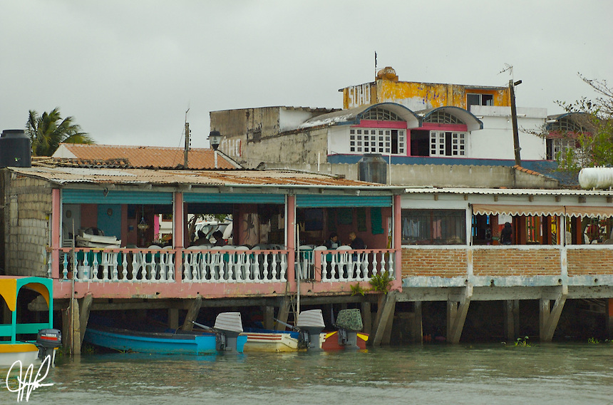 """Tlacotalpan, Veracruz located near coastal region of Gulf coast.  The municipal seat, town of Tlacotalpan name is Nahuati meaning, """"Place between the rivers,"""" because it was founded as a river port on the banks of the Papaloapan in the mid-16th century."""