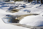 Winter Snow and Ice Shapes in the Ashuelot River in Gilsum, New Hampshire