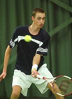 10-3-06, Netherlands, tennis, Rotterdam, National indoor junior tennis championchips, Thomas Schoorel
