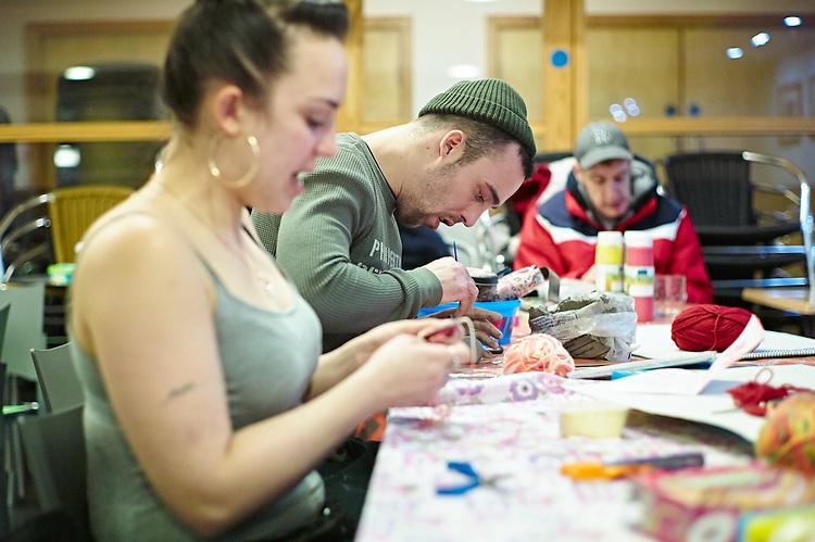 © John Angerson 2017 - ref: 170119 <br /> St George's Crypt Homeless shelter,  Leeds.
