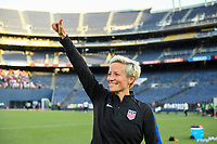 San Diego, CA - Sunday July 30, 2017: Megan Rapinoe celebrates her goal and win during a 2017 Tournament of Nations match between the women's national teams of the United States (USA) and Brazil (BRA) at Qualcomm Stadium.