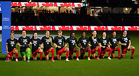 ORLANDO CITY, FL - FEBRUARY 18: Canada starting eleven during a game between Canada and USWNT at Exploria Stadium on February 18, 2021 in Orlando City, Florida.