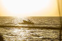 Sea Watch-2.<br /> Die Sea Watch-2 bei ihrer 13. SAR-Mission vor der libyschen Kueste.<br /> Im Bild: Ein Boot das sich als libysche Kuestenwache ausgibt.<br /> 20.10.2016, Mediterranean Sea<br /> Copyright: Christian-Ditsch.de<br /> [Inhaltsveraendernde Manipulation des Fotos nur nach ausdruecklicher Genehmigung des Fotografen. Vereinbarungen ueber Abtretung von Persoenlichkeitsrechten/Model Release der abgebildeten Person/Personen liegen nicht vor. NO MODEL RELEASE! Nur fuer Redaktionelle Zwecke. Don't publish without copyright Christian-Ditsch.de, Veroeffentlichung nur mit Fotografennennung, sowie gegen Honorar, MwSt. und Beleg. Konto: I N G - D i B a, IBAN DE58500105175400192269, BIC INGDDEFFXXX, Kontakt: post@christian-ditsch.de<br /> Bei der Bearbeitung der Dateiinformationen darf die Urheberkennzeichnung in den EXIF- und  IPTC-Daten nicht entfernt werden, diese sind in digitalen Medien nach §95c UrhG rechtlich geschuetzt. Der Urhebervermerk wird gemaess §13 UrhG verlangt.]