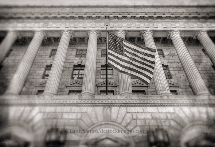 Department of Commerce Building Washington DC Architecture Black and White Photography Washington DC Art - - Framed Prints - Wall Murals - Metal Prints - Aluminum Prints - Canvas Prints - Fine Art Prints Washington DC Landmarks Monuments Architecture