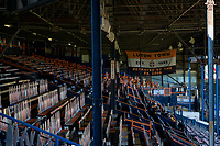 17th April 2021; Kenilworth Road, Luton, Bedfordshire, England; English Football League Championship Football, Luton Town versus Watford; The Main Stand at Kenilworth Road empty due to the pandemic