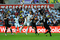 Thursday  01  August  2013<br /> <br /> Pictured:Michu heads the ball <br /> Re:UEFA Europa League Third Qualifying Round -1st Leg Swansea City vs Malmo FF