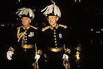 Plumbed dignitaries arrive at a  Guildhall, City of London banquet. UK Circa 1990s