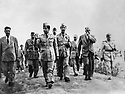 Iraq 1956 In Erbil, King Faycal II of Iraq, right, Rafik Aref, , Said Kazaz, Prince Abdullah, , left, Rashid Nejib  Irak 1956  Le roi Faycal II d'Irak a Erbil, au 2eme rang de droite a gauche, Rafik Aref, Said Kazaz, Prince Abdullah, Rashid Nejib