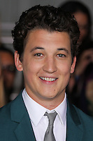 """WESTWOOD, LOS ANGELES, CA, USA - MARCH 18: Miles Teller at the World Premiere Of Summit Entertainment's """"Divergent"""" held at the Regency Bruin Theatre on March 18, 2014 in Westwood, Los Angeles, California, United States. (Photo by Xavier Collin/Celebrity Monitor)"""