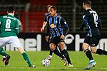 13.01.2021, xtgx, Fussball 3. Liga, VfB Luebeck - SV Waldhof Mannheim emspor, v.l. Anton Donkor (Mannheim, 19) <br /> <br /> (DFL/DFB REGULATIONS PROHIBIT ANY USE OF PHOTOGRAPHS as IMAGE SEQUENCES and/or QUASI-VIDEO)<br /> <br /> Foto © PIX-Sportfotos *** Foto ist honorarpflichtig! *** Auf Anfrage in hoeherer Qualitaet/Aufloesung. Belegexemplar erbeten. Veroeffentlichung ausschliesslich fuer journalistisch-publizistische Zwecke. For editorial use only.