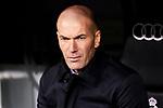 Zinedine Zidane coach of Real Madrid during La Liga match between Real Madrid and Real Sociedad at Santiago Bernabeu Stadium in Madrid, Spain. February 06, 2020. (ALTERPHOTOS/A. Perez Meca)