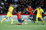 Spain's Borja Mayoral and Romania's Ciobanu Andre  during the International Friendly match on 21th March, 2019 in Granada, Spain. (ALTERPHOTOS/Alconada)