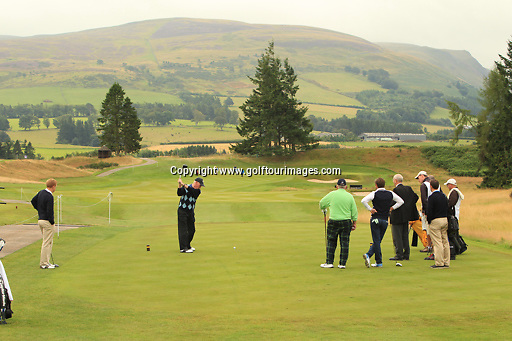 during the pro-am ahead of the 2013 Johnnie Walker Championship being played over the PGA Centenary Course, Gleneagles, Perthshire from 22nd to 25th August 2013: Picture Stuart Adams www.golftourimages.com: 21st August 2013