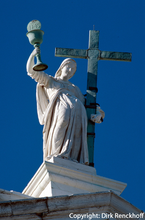 Kirche El Redentore, Detail, erbaut von Andrea Palladio 1577-92, Giudecca, Venedig, Italien, Unesco-Weltkulturerbe
