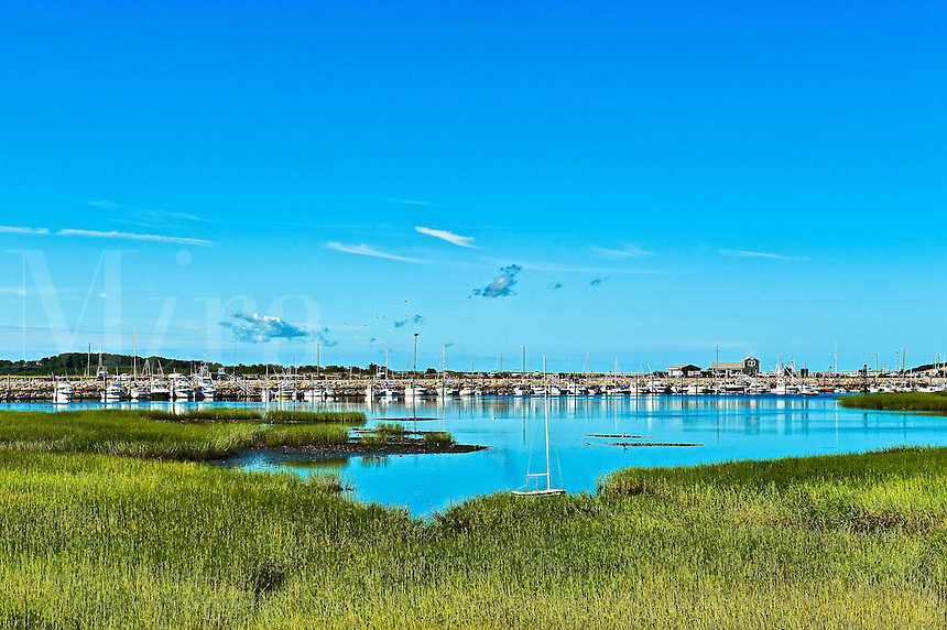 Wellfleet harbor and jetty, wellfleet, MA, Massachusetts