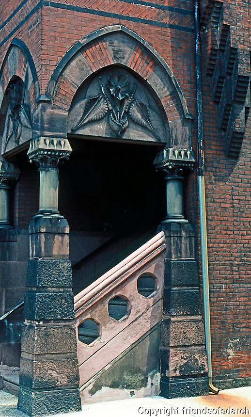 Frank Furness: Hockley House--Entrance.  Photo '76.