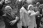 The Lord Mayor of Plymouth's annual inspection of the water. Burrator Reservoir Ceremony. Devon 1975