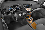 High angle dashboard view of a  2009 Toyota Highlander Hybrid Limited
