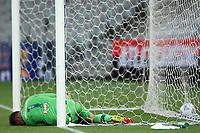 30th May 2021; Arena da Baixada, Curitiba, Brazil; Brazilian Serie A, Athletico Paranaense versus America Mineiro; Matheus Cavichioli of America Mineiro is beaten by the shot and goal by Carlos Eduardo of Athletico Paranaense in the 87th minute 1-0
