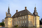 Europe, DEU, Germany, Lembeck, Mouted Castle, Schloss Lembeck, Typical view....[ For each utilisation of my images my General Terms and Conditions are mandatory. Usage only against use message and proof. Download of my General Terms and Conditions under http://www.image-box.com or ask for sending. A clearance before usage is necessary...Material is subject to royalties. Each utilisation of my images is subject to a fee in accordance to the present valid MFM-List...Contact | archive@image-box.com | www.image-box.com ]