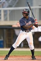 Kuyaunnis Miles (9) of the Danville Braves at bat at Dan Daniels Park in Danville, VA, Sunday July 27, 2008.