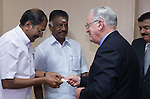 27 October 2015, Chennai, India : Andrew  Robb, AO, Minister for Trade and Investment meeting Tamil Nadu Minister for Finance and Public Works, O Paneerselvam (centre) and Minister for Industries and Transport Thiru P Thangamani (left) during his visit to India. Picture by Graham Crouch/DFAT
