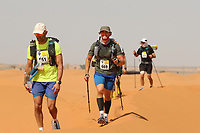 4th October 2021; Tisserdimine to Kourci Dial Zaid;  Marathon des Sables, stage 2 of  a six-day, 251 km ultramarathon, which is approximately the distance of six regular marathons. The longest single stage is 91 km long. This multiday race is held every year in southern Morocco, in the Sahara Desert. Jack Fleckney (GB) in the dunes