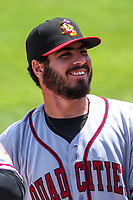 Quad Cities River Bandits pitcher Humberto Castellanos (36) prior to a Midwest League game against the Kane County Cougars on July 1, 2018 at Northwestern Medicine Field in Geneva, Illinois. Quad Cities defeated Kane County 3-2. (Brad Krause/Four Seam Images)