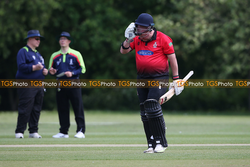 Frustration for P Murray of Hornchurch after he is given out during Hornchurch CC vs Harold Wood CC, Hamro Foundation Essex League Cricket at Harrow Lodge Park on 5th June 2021