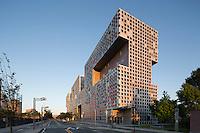 Simmons Hall, MIT, Cambridge, MA (Steven Holl = architect) dormitory