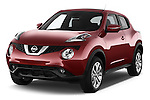 2017 Nissan JUKE SV 5 Door SUV Angular Front stock photos of front three quarter view