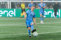 FOXBOROUGH, MA - SEPTEMBER 02: Gary Mackay-Steven #17 of New York City FC passes the ball during a game between New York City FC and New England Revolution at Gillette Stadium on September 02, 2020 in Foxborough, Massachusetts.