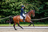 GBR-Bubby Upton rides Canavaro during the Dressage for the CCI-L 4*U25. Interim-1st. 2021 GBR-Bicton International Horse Trials. Devon. Great Britain. Thursday 10 June. Copyright Photo: Libby Law Photography
